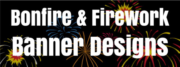 Custom Bonfire Night Banners