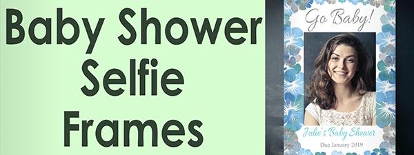Personalised Baby Shower Selfie Frames