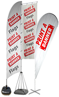 Feather & Teardrop Flags from Print a Banner