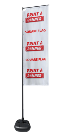 Square Flags for Advertising and Promotions